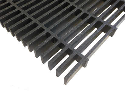 G R P 62 Percent Open Surface Area Molded Grating, Rejilla Moldeada Apertura de 62% en Superficie